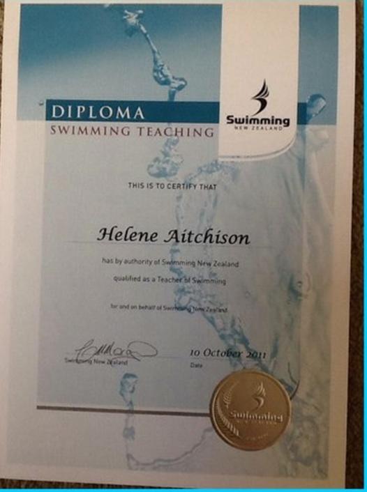 Qualified Swim teacher Papamoa Tauranga